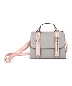 I've gotten so many compliments and people gushing left and right about this awesome Gray Messenger Bag by Lavand #zulily #zulilyfinds