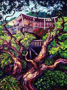 Showcasing the artwork of Rachel Olsen, artist painter from Cooks Beach on the Coromandel Peninsula NZ New Zealand Art, Olsen, New Art, City Photo, Treehouse, The Originals, Beach, Artwork, Painting