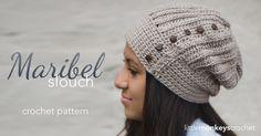 The Maribel Slouch Hat free #crochet pattern from Little Monkeys Crochet