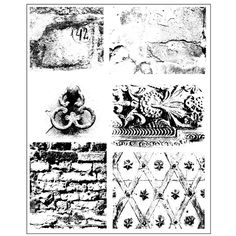 Prima Flowers DIRTY WALLS Cling Stamp Finnabair 962012 zoom image