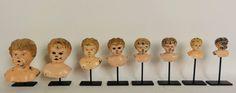 Lost Found Art - Antique Metal Doll heads