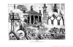 """Albert Robida, « La grande usine alimentaire », in : """"Le vingtième siècle"""", Paris, G. Decaux, 1883"""