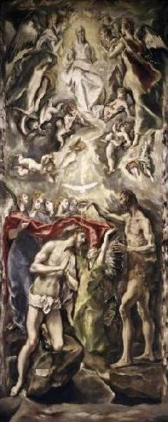 Baptism Of Christ Giclee Print Poster by El Greco Online On Sale at Wall Art Store – Posters-Print.com