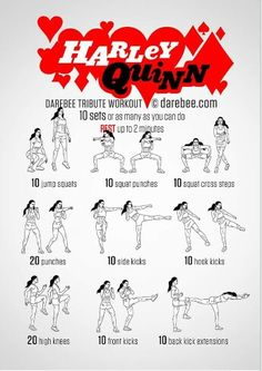 Work out Harley Quinn