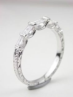 Wedding Band with Baguette Cut Diamonds, RG-1739wbc