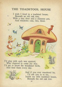 """""""Los libros son amigos que nunca decepcionan"""". Thomas Carlyle. Ilustración  Childrens Toadstool House por ImpalaPrints"""