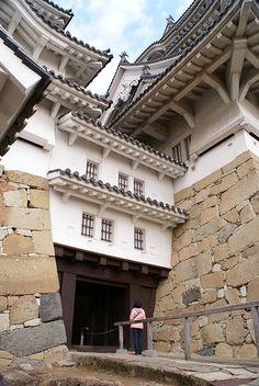 Himeji castle。姫路城は第二次大戦によって破壊されなかった少数の城の一つである。