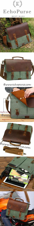 Vintage Leather Messenger Bag for inch laptops, Unisex Satchel Briefcase Bag 1807 Green Vintage Leather Messenger Bag, Messenger Bag Men, Pin Man, Leather Men, Leather Bags, Best Christmas Gifts, Laptop Bag, Briefcase, 6 Inches