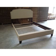 Lillian Upholstered Bed in Cream