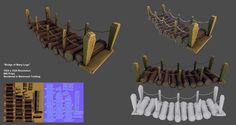 Bridge of Many Logs (Low-poly/Game-Ready) by mhofever on DeviantArt