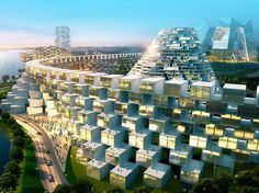 A current show in Ansan, just south of Seoul, displays four pie-in-the-sky schemes for reinventing the city, designed by four buzzed-about architecture firms: BIG in Copenhagen, INABA in L.A., MAD in Beijing, and Mass Studies in Seoul. The big idea is to make architecture made of stand-alone units, which would allow projects to be expanded or scaled back during planning. (One of the big problems with big projects is that developers get stuck with huge buildings just as the economy tanks.)
