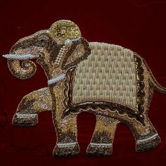 Embroidery Designs By Hand Embellishments Haute Couture 50 Trendy Ideas Zardozi Embroidery, Pearl Embroidery, Embroidery Works, Couture Embroidery, Embroidery Motifs, Embroidery Fashion, Hand Embroidery Designs, Abstract Embroidery, Elephant Design