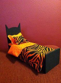 Monster High Doll Furniture OOAK Dead Tired Bed Designed for Toralei Stripe | eBay