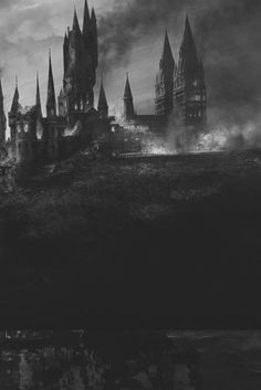 Dark castle fantasy illustration, black and white✨ Gothic Castle, Dark Castle, Gothic Horror, Dark Gothic, Gothic Art, Gothic Images, Creepy, Scary, Gothic Aesthetic