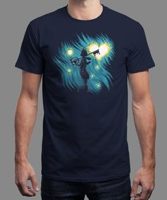 """""""Starry Hearts"""" is today's £8/€10/$12 tee for 24 hours only on www.Qwertee.com Pin this for a chance to win a FREE TEE this weekend. Follow us on pinterest.com/qwertee for a second! Thanks:)"""