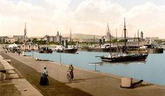 The Harbor Kingstown. County Dublin Ireland by vintagephotograph Dublin Ireland, Ireland Travel, Old Photos, Vintage Photos, Images Of Ireland, Dublin City, Photo Postcards, Paris Skyline, Tourism