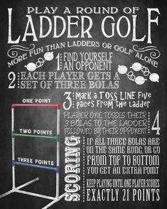 yard games - ladder golf yard game sign - bbq yard games - ladder golf rule sign...#bbq #game #games #golf #ladder #rule #sign #yard Bbq Party Games, Bbq Games, Picnic Games, Adult Party Games, Adult Games, Outdoor Games For Kids, Games For Teens, Backyard For Kids, Backyard Ideas