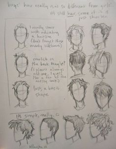 how to draw a male head