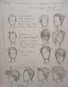 rostro masculino cabello