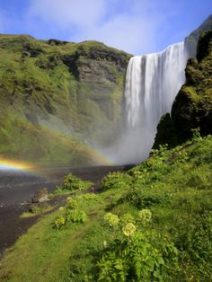 Skogafoss Waterfall, South Coast, Iceland For information on our Iceland tours visit  http://www.wallacetravelgroup.ie/holidays/iceland.189.html