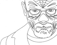 Walter White free printable coloring page