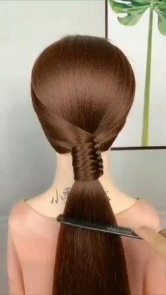 Pretty Braided Hairstyles, Work Hairstyles, Hairdo For Long Hair, Easy Hairstyles For Long Hair, Front Hair Styles, Medium Hair Styles, Hair Tutorials For Medium Hair, Hair Upstyles, Hair Affair