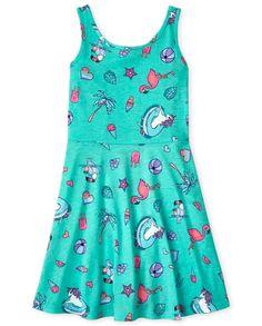 Girls Sleeveless Knit Tank Dress Girls Casual Dresses, Summer Dresses, Tank Girl, Big Fashion, Tank Dress, Children's Place, Clothes, Pool Fun, Free Shipping