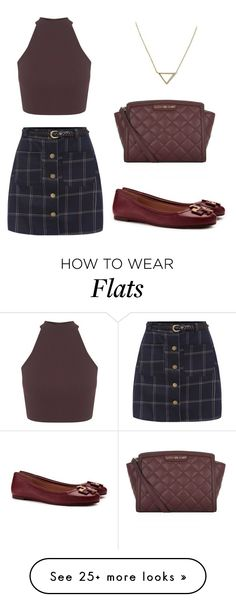 """Just needs a jacket. """"Untitled #2304"""" by ceceiscool1995 on Polyvore featuring MICHAEL Michael Kors, Banana Republic, Miss Selfridge and Tory Burch"""