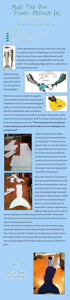Spandex Mermaid Tail Tutorial by koonmo.deviantart.com on @deviantART