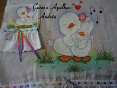 Cores e Agulhas: Fralda Pintada!!!