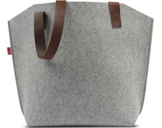 Tote bag -YORK- 100% Wool Felt, Pure Vegetable Tanned Leather (YO-GLB)