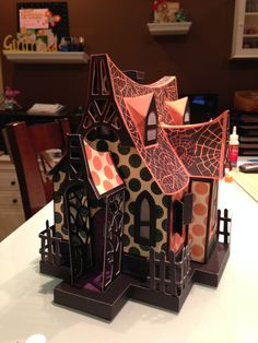 Bewitched Cabin Halloween Havoc, Halloween Doll, Halloween Cards, Holidays Halloween, Halloween Village, Halloween Haunted Houses, Halloween House, Door Crafts, 3d Paper Crafts