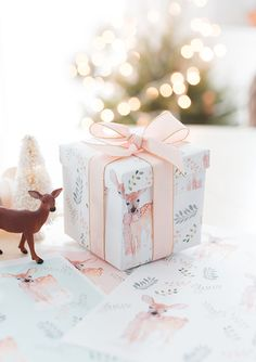 Printable Gift Wrap from Craftberry Bush