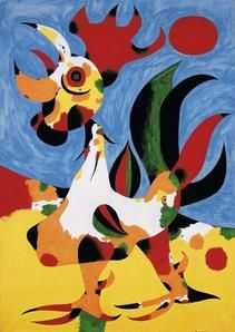 """Joan Miro  """"Painting of a Rooster"""""""