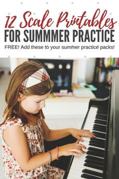 12 Scale Printables To Add To Your Summer Piano Practice Packs - Teach Piano Today Music Lessons For Kids, Piano Lessons, Piano Classes, Piano Scales, Vocal Exercises, Singing Exercises, Piano Exercises, Singing Tips, Singing Quotes