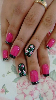 We have put together the top nail art designs. You should definitely check them out. Flower Nail Designs, Flower Nail Art, Nail Designs Spring, Nail Art Designs, Fabulous Nails, Gorgeous Nails, Pretty Nails, Fingernail Designs, Pink Nail Art