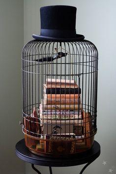 Ephemera bird cage.