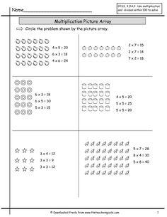 Multiplication Worksheets  Teaching Multiplication