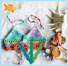 Kids Mermaid Crop Top, Baby Crochet Tie Dye Boho Top, Under the Sea Party Costume, Baby Shower Gift Girl, Baby Girl Crochet Tank Top - Cute Swimsuits Bikini - Baby Bikini, Baby Girl Swimsuit, Crochet Hat For Women, Baby Girl Crochet, Crochet Tank, Crochet Bikini, Mermaid Crop Top, Crop Tops For Kids, Little Girl Swimsuits