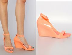 Melissa shoes Scarfun wedge in salmon