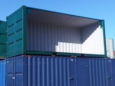 The modified open sided container