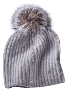 6abbb79325e Alexa Cashmere Crystal Knit Hat Eisbar