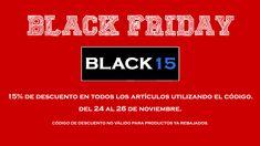 """Desde hoy viernes 24 y hasta el domingo 26 de #noviembre tendremos un 15% de #descuento en nuestra tienda y en la web utilizando el codigo """"BLACK15"""". #blackfriday #viernesnegro #rivendelmadrid #descuentos #ofertas #offers #promocionespecial  #madrid #benitogutierrez4 www.rivendelmadrid.es"""