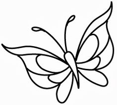 Illustrator and character designer for Wee Stamps Butterfly Outline, Butterfly Stencil, Butterfly Drawing, Butterfly Template, Butterfly Mobile, Flower Template, Stained Glass Patterns, Stained Glass Art, Applique Patterns
