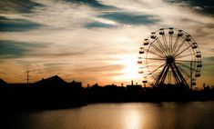 I once had to make a very hard decision, a long time ago.  When I did it, the person I was with looked out across the lake and asked if I could see the ferris wheel in the distance.  This picture is how I always remembered that moment...