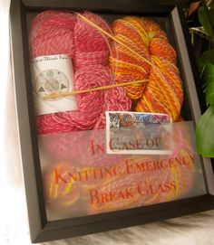 Knitting Emergency Sticker $5.00 - the best way to gift your favorite knitter.