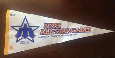 Vtg 1979 Seattle Mariners 50th Anniversary All Star Game Pennant Flag | eBay