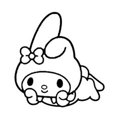 Pochacco, Gal Pal, My Melody, Sanrio, Sheep, Coloring Pages, Hello Kitty, Embroidery, Black And White