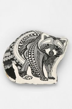 The Rise And Fall Raccoon Pillow. $29.00