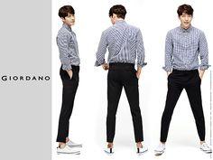 GIORDANO Fall 2015 Ads Feat. Real Life Couple Shin Min Ah & Kim Woo Bin   Couch Kimchi